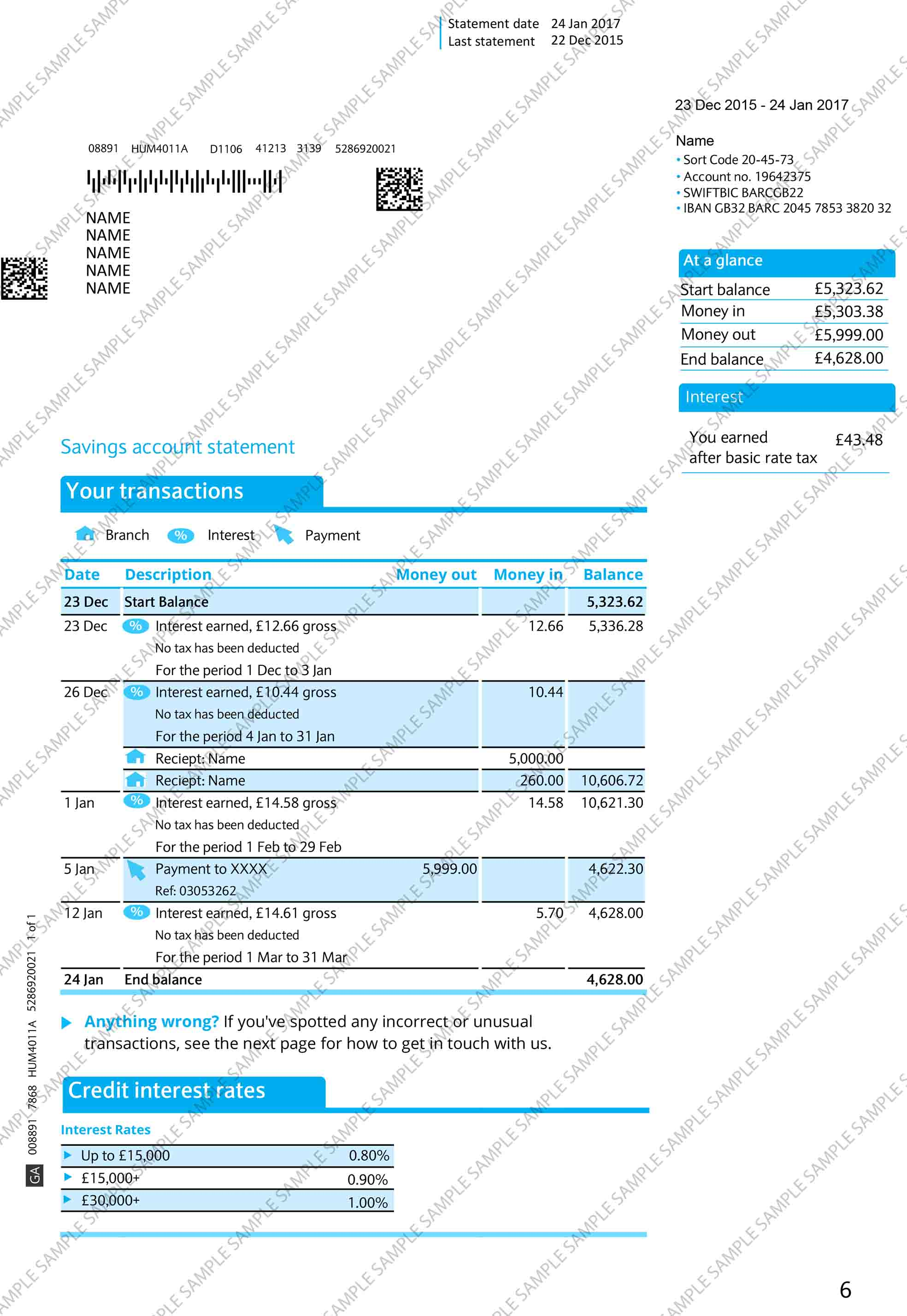 print bank statement online barclays