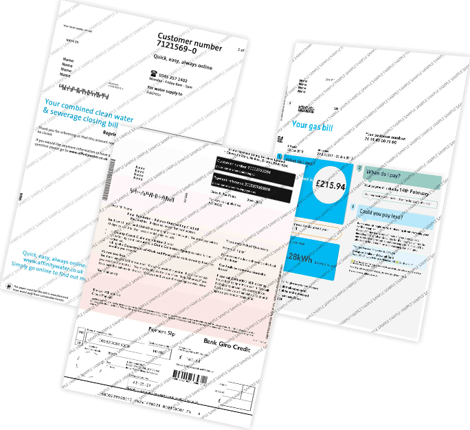 Fake Utility Bills, Replacement Utility bills, Novelty